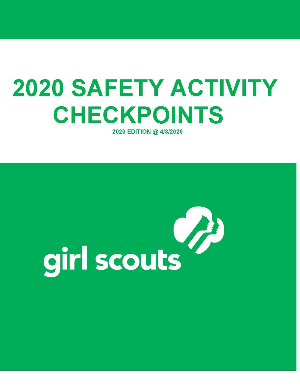 2020 Safety Activity Check Points Cover