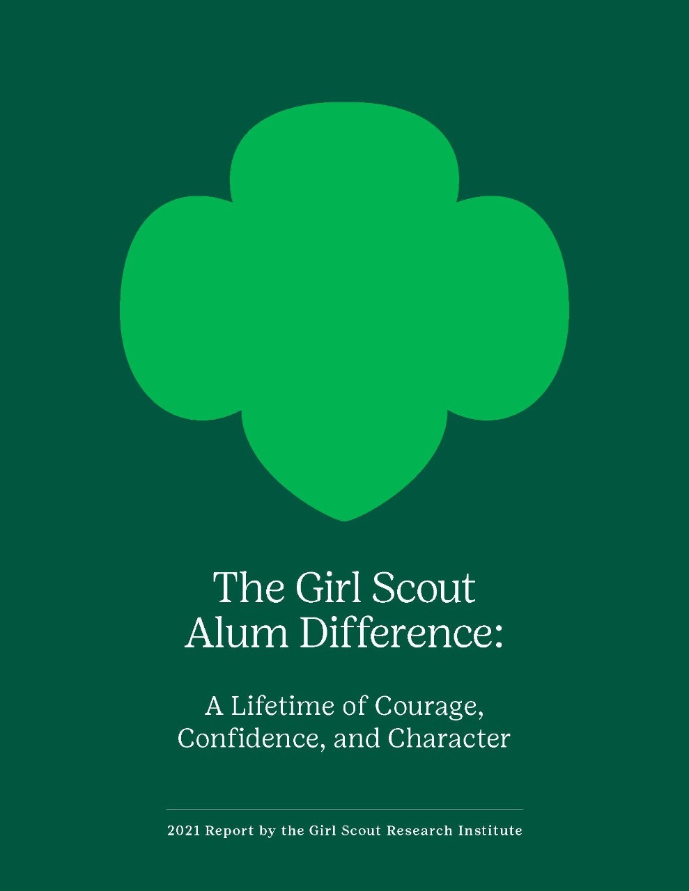 Cover from GSUSA_GSRI_2021_The-Girl-Scout-Alum-Difference